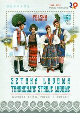 Poland souvenir sheet 2013 Folk Art - Traditional National Costumes + gratis