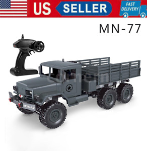 MN-77 1/16 Military Truck 2.4Ghz 6WD Off-Road Truck RC Car Electric Vehicle RTR