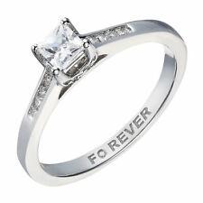 H Samuel 18 Carat White Gold 0.35 Carat THE FOREVER DIAMOND Ring Size O 3.3g
