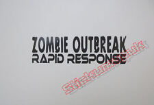 Zombie Rapid Response Quality funny Vinyl sticker / Decal Cars or Van 12 colours