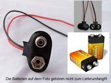 S451-10-pc 9v clip forma de T para Batería de Bloque Con Cable ZU BLOCK Batería