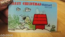 GIFT CARD NO VALUE CHRISTMAS TREE SNOOPY  WALMART LIMITED EDITION  GIFT CARD 3D