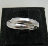 Echt Sterling Silber Ring Doppelband massiv punziert 925 handgefertigt