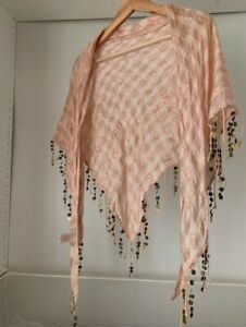 River Island Shawl / Scarf with Copper Beading Detail