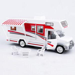 Luxury Camper Van Motorhome 1:28 Model Car Diecast Toy Vehicle Gift Kids Sound