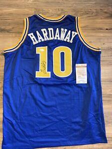 Tim Hardaway Signed Warriors Jersey JSA Witnessed COA (custom Jersey)