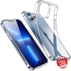 Case For iPhone 13 Pro Max Shockproof Thin Slim Silicone Flexible Cover Clear