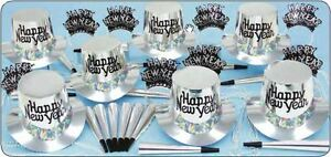 Silver Regal Happy New Year Party Kit for 25 Guests