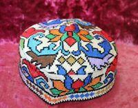 Uzbek Duppi Cap Hat Skull Cap Kufi Hat Embroidered Ethnic Gift Hat Qalpoq 30