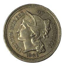 1881 3CN Three Cent Nickel UNC #