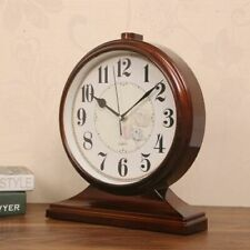 Quartz Desk Clock Antique Wood Style Table Alarm Office Home Desktop Decorations