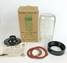 New listing Vintage Hay Mow Light Atlas Mason Jar Vapor Proof Chicken Cage Barn Lighting