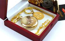 Police Crest  Pocket Watch 24k GOLD Plated Keyring and Gift Set UK Force British