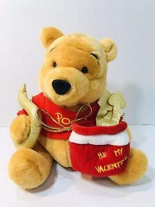 "Walt Disney Exclusive Winnie The Pooh Cupid Happy Valentines Day Plush 11"""