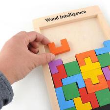 Wooden Tangram Brain Teaser Puzzle Toys Tetris Educational Kids Baby Child Toy