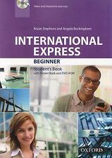 Oxford INTERNATIONAL EXPRESS 3rd Ed Beginner Students Book w Pocket Bk & DVD New