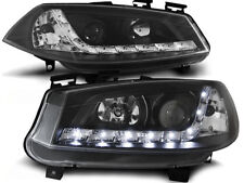 LED HEADLIGHTS LPRE16 RENAULT MEGANE MK-2 2002 2003 2004 2005 BLACK