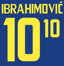 Sweden Ibrahimovic Nameset Shirt Soccer Number Letter Heat Print Football 2008 A