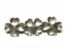 """.925 Sterling Silver 3 - Four 4 Leaf Clover Pin / Brooch - Signed """"LANG"""" - L@@K!"""