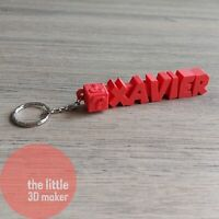 Personalised Keyring, KeyChain School Bag Name Tag Gift 3D Question Mark Mario