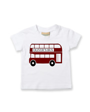 Personalised Big Red Bus Name- (Enter Own Name) - Cotton Child's T-Shirt