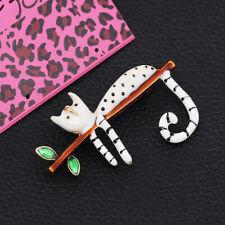 Betsey Johnson Jewelry Enamel Cute Cat Kitten Tree Branch Charm Brooch Pin Gift
