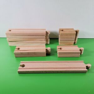 KidKraft THOMAS WOODEN RAILWAY Straight Track Pieces | Lot of 15 Various lengths