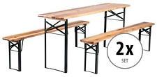 2x Ensemble Brasserie Table Banc Bois Pliable Meuble Jardin Terrasse Fete Bar