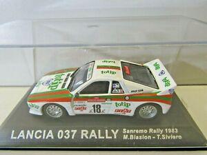IXO Altaya 1:43 Scale Diecast Lancia 037 Rally Sanremo 1983 Biasion / Siviero