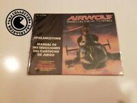 Airwolf - nintendo nes - notice FRG