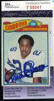 PRESTON PEARSON JSA COA Autographed 1977 TOPPS Authenticated Hand Signed