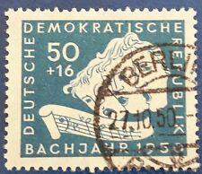 DDR 200. muerte de Bach valor máximo mi-nº 259 con sello, libre elección de envío