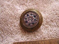 Antique Vintage  Glass Button Gay 90's