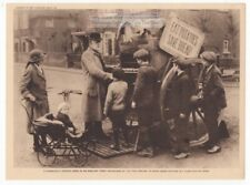 Wwi English Pushing Potato Eating To Save Bread Original 1919 Photogravure Print