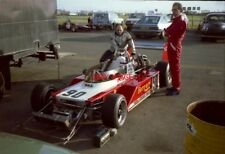 PHOTO  JOHN ATKINS WATCHES THE TOYOTA NOVAMOTOR ENGINE IN HIS F3 MARCH 793 SILVE