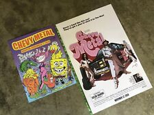 2 Chevy Metal Band (2018) Taylor Hawkins Foo Fighters DesignerCon Signed Posters