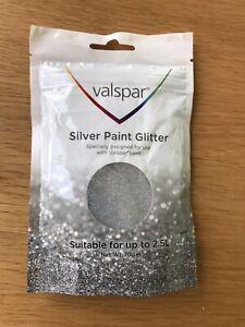 VALSPAR  Paint Glitter SILVER Shimmer Wall Covering Sparkle Home Decor 2.5L
