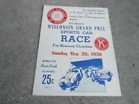 #MISC-3138 - MAY 20 1956 CAR RACING program WISCONSIN GRAND PRIX