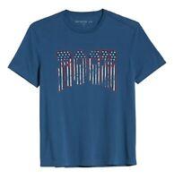 John Varvatos Star USA Men's American Rock Graphic Crew T-Shirt Stream Blue