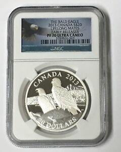 2013 Canada The Bald Eagle NGC PF 70 Ultra Cameo Lifelong Mates E/R