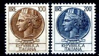 ITALIA 1959 -SIRACUSANA Lire  100 + 200   SERIE NUOVA **