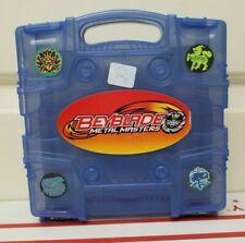 Beyblade Metal Masters Fury Beylocker Carry Case Storage Box Blue Gray Clear