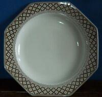 """A 10"""" Ironstone dinner plate in Octagonal Wicker by J & G Meakin"""