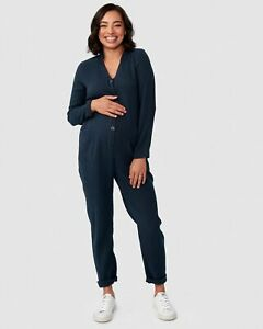 Pea in a Pod Kenya Jumpsuit in Navy Maternity Pregnancy Clothing