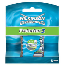 Wilkinson Sword Protector 3 Razor Blades 4 Pack Mens Shaving Genuine