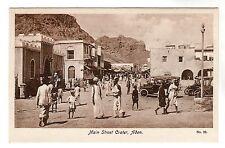 Main Street Crater - Aden Photo Postcard c1930 / Yemen