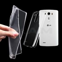 Ultra Thin Clear TPU Gel Soft Back Silicon Cover Case For LG G2 LG G3 LG G4
