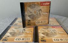 Imation Lightscribe CD-R 5 Pack 700mb 80 Mins 52x Compatible Media Version 1.2
