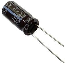 10x Condensateur électrolytique chimique 2200µF 6.3V THT 2000h Ø10x20mm radial