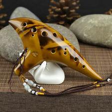 12 Hole Legend Zelda Ocarina of Time Alto C Smoldering Ceramic Flute Ocarina